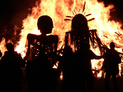 Halloween Objects Bonfires For Scary Party Celebrations