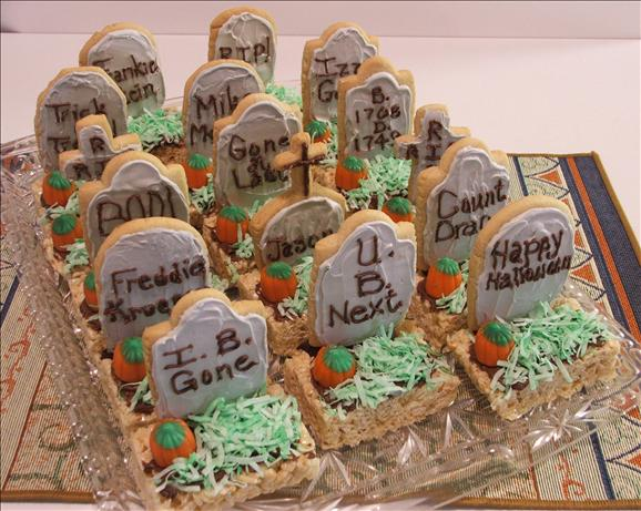 halloween tombstone treats is a special treat for party - Funny Halloween Tombstone Names