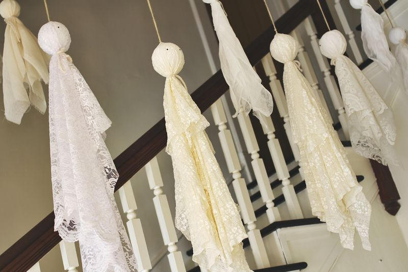 Homemade halloween scary hanging dangling ghosts - Diy halloween ghost decorations ...