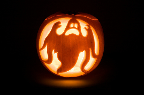 Silhouette ghost pumpkins of halloween for Pumpkin carving silhouettes