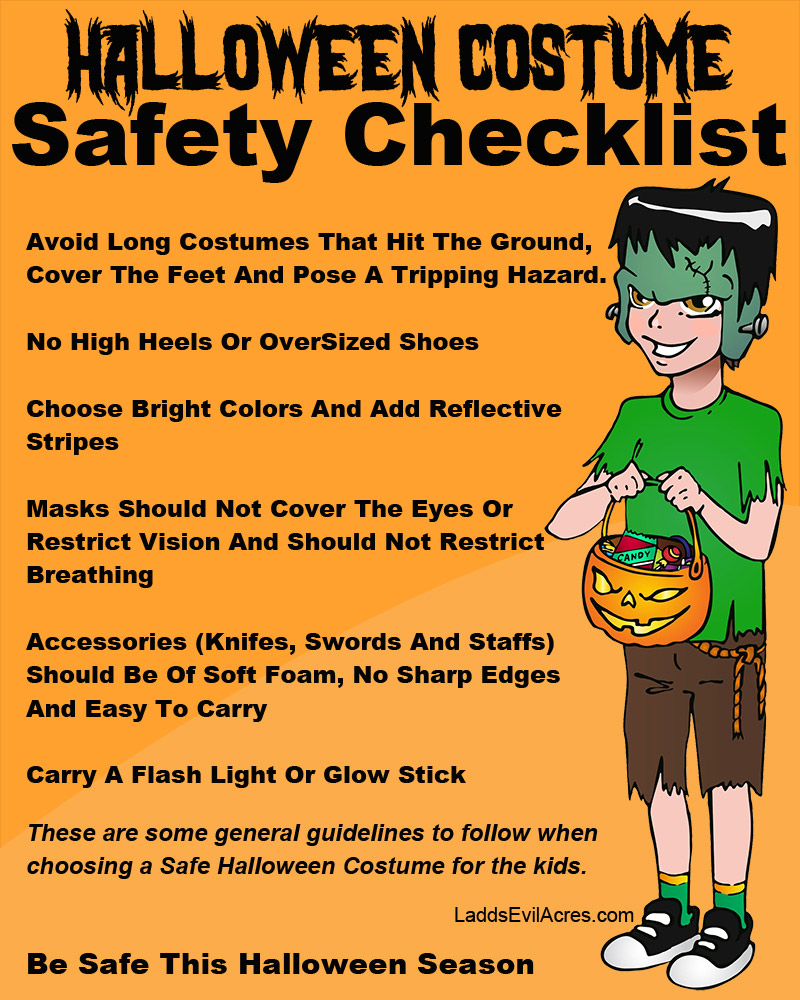 Costume Safety Tips For Halloween Party - Halloweenonearth.com